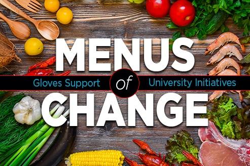 Gloves Support Universities Menus of Change Initiatives