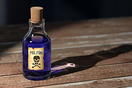 Purple Poison Bottle Phthalate Accelerator chemical