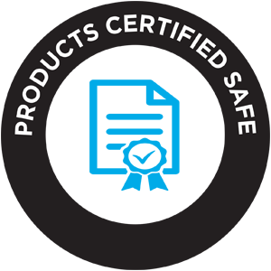 Products Certified Safe Icon Eagle Protect core values