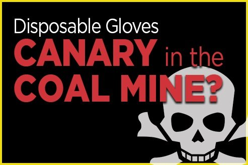 Disposable Gloves are Canary in Coal Mine Blog