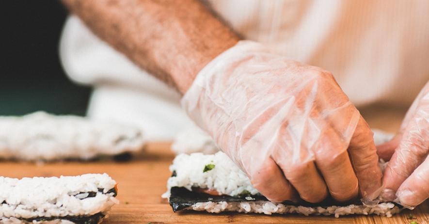 Vinyl Glove Sushi